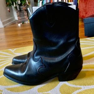 Dingo Western-style Black Leather Booties